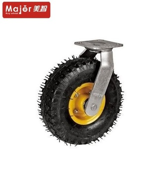 Shock Absorber Pneumatic Rubber Industrial Caster Wheel