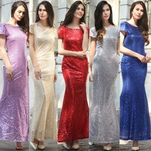 ZH0074G Women Dress Slim Mini Sparkling Sequins Dresses Sexy Party evening Dresses