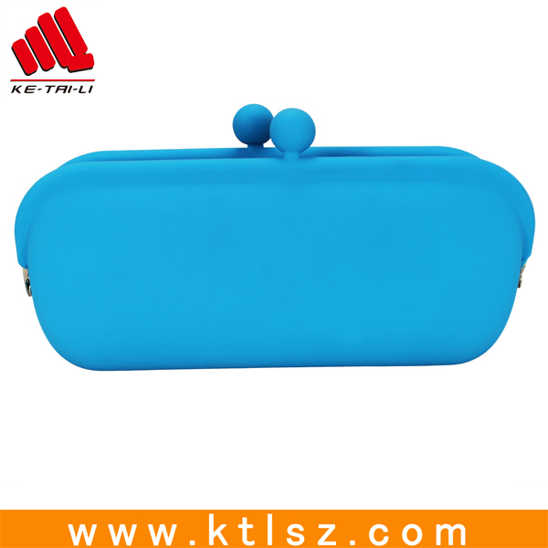 New design rectangle silicone coin purse clasp wallet