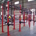 red 2.8m standing pole for crossfit rig