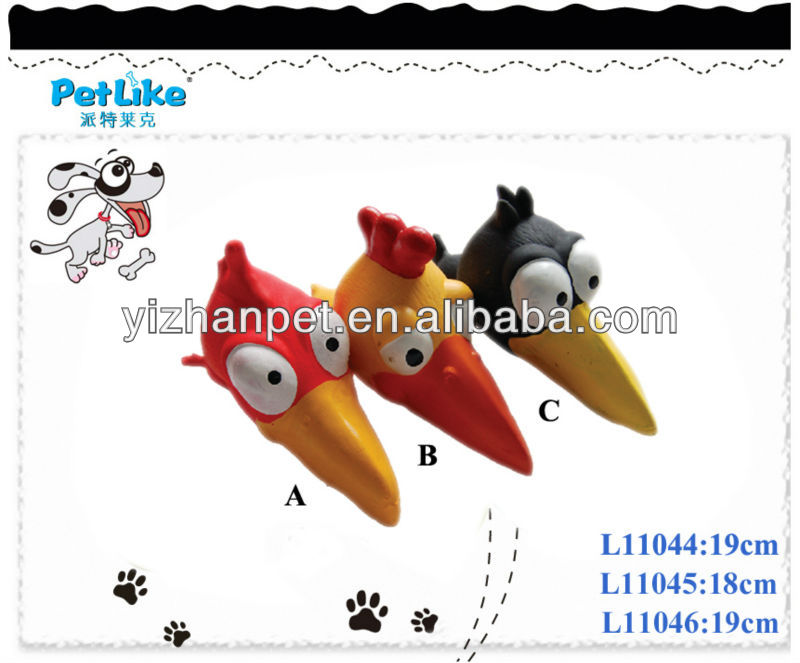 New 2016 online shopping dog cat pet China supplier latex bird head pet toy for sale