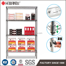 800lbs Heavy Duty Commercial Chrome Metal Wire Storage Rack Shelf With NSF Approval For 60 Countries Market