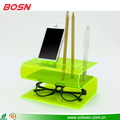 Functional colorful Bent acrylic desk organizers display wholesale