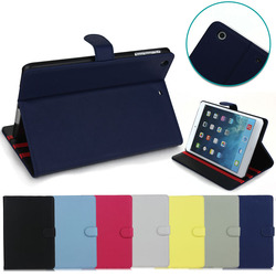 New arrival Solid Flip Crazy Horse PU Leather cover Case for iPad Mini 1 2 3 with stand,for iPad flip leather cover case