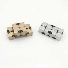2017 Hot Sell Folding Fidget Cube Toys and Plastic Magic Infinite Cube