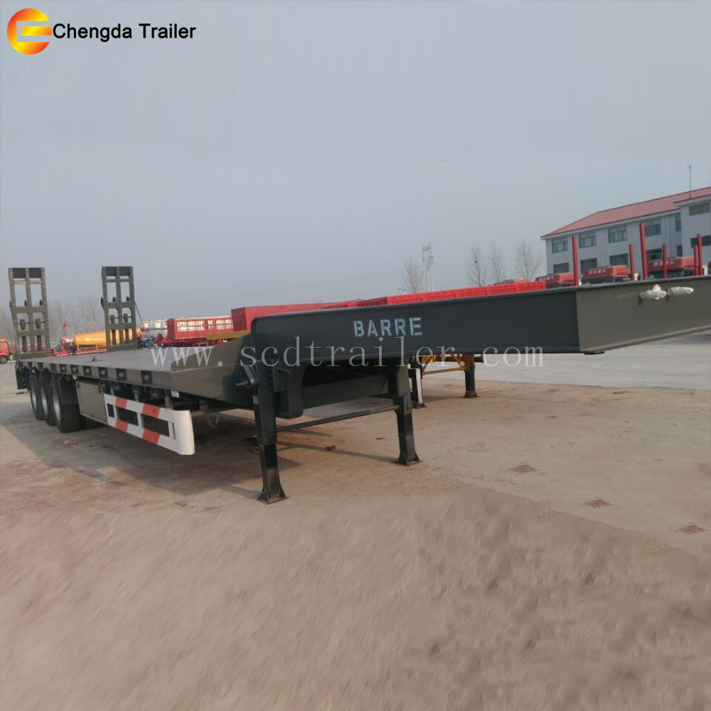 Brand New Hydraulic Gooseneck 3 axle 60 tons Low Bed Trailer for sale