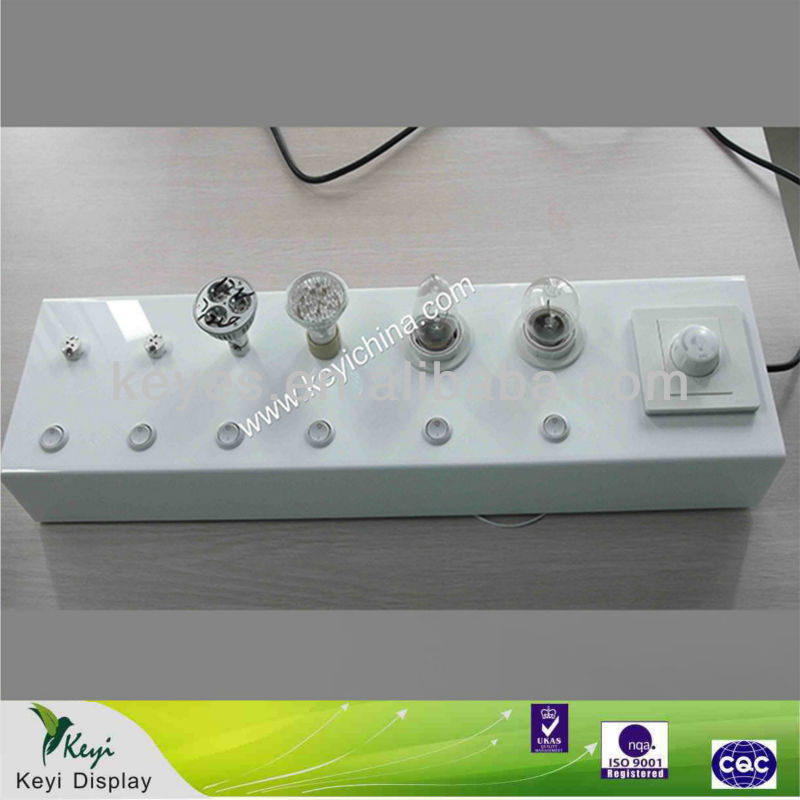 Acrylic Led fashion light display Led Lamp Tester Lamp Display Tabletop Lighting box display