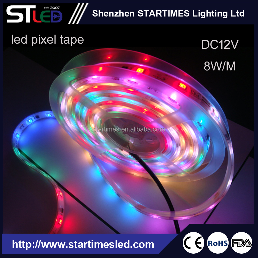 SMD 5050 LED Strip Light with IC 150 Leds Flexible and Color Changeable RGB Rope Light Waterproof