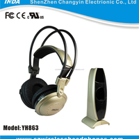 RF863 Wireless Headset Listening Music Through