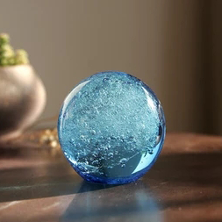 Glass handicrafts home furnishing small decorative pieces creative birthday gift ocean ball Christmas crystal paperweight