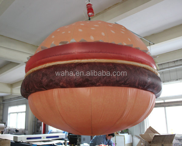 wholesale giant inflatable hamburgers, custom large hamburger inflatables model for sale