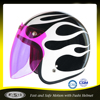 Open face helmet equipment shielded motorcycle helmet women with colourful visor