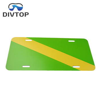 Diver signal GREEN and yellow license plate frame