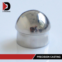 Stainless steel decorative round dome end cap for stair railing post