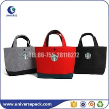 China supplier hand made felt bag with handles for shopping