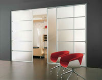 3-19mm Frosted Glass One Panel Interior Doors