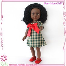 hot sale black fashion doll 18 inch african american girl black doll for girls