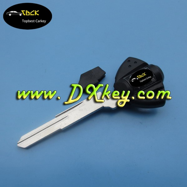 Floor price motorcycle key blank for suzuki key cover in black with YH35R blade