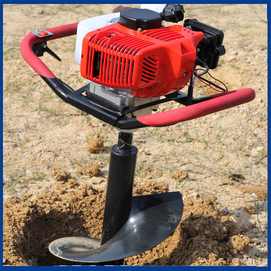 gas powered post hole digger for tree transplanting hand earth auger