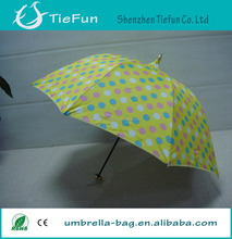manual open 3 fold umbrella poe material umbrella