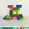 Melors educational eva foam super heroes building blocks kids toy games/children plastic building blocks
