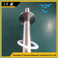 Latest new design ex-factory price dry magnetic powder separator with magnetic bar