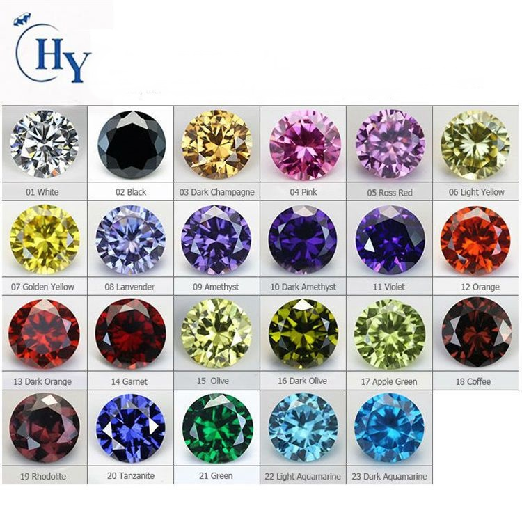 Machine cut cubic zirconia/lot cz /cubic zirconia gems
