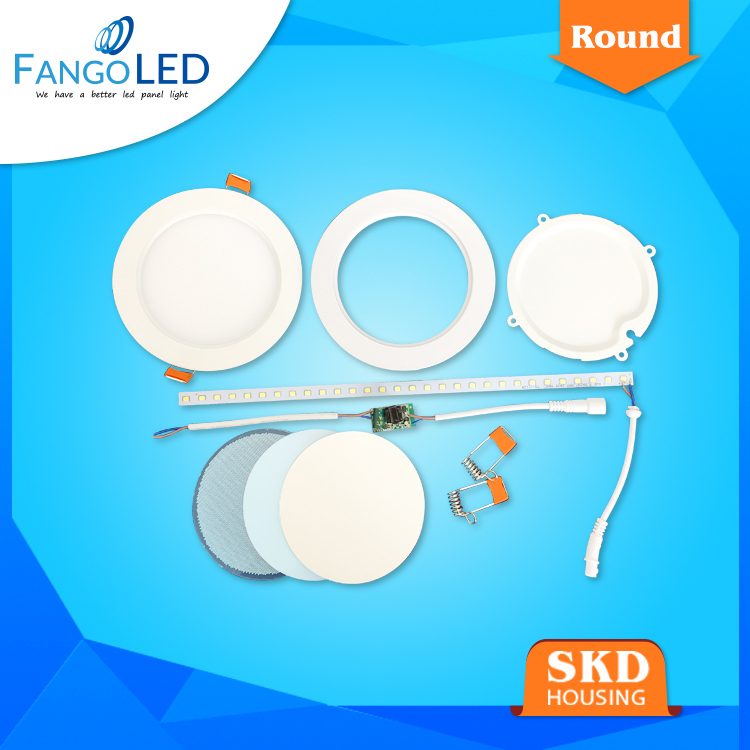 die cast aluminum 18w round led housing panel light parts SKD zhongshan factory