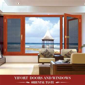 factory price german-style aluminum casement window for philippines market