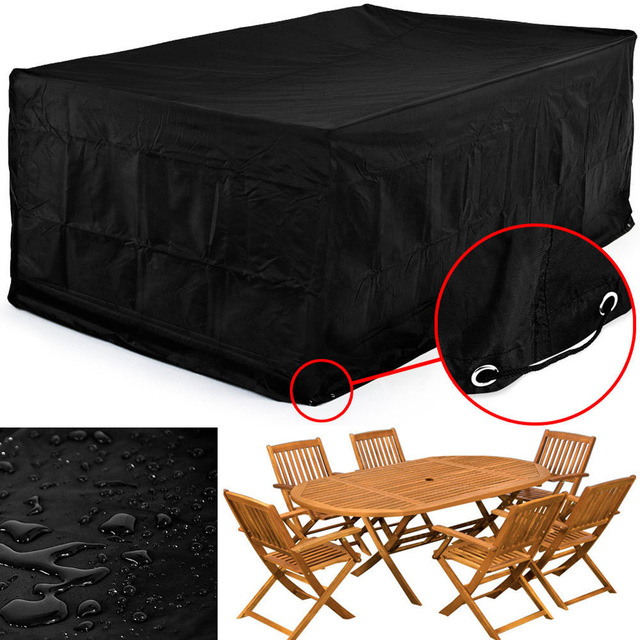 PU backed polyester outdoor home garden waterproof rectangle table cover