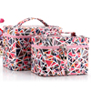 2016 cosmetic cases set cullet pattern Make up case Traveler Train Case 2-piece Cosmetic Set Travel cosmetic bags