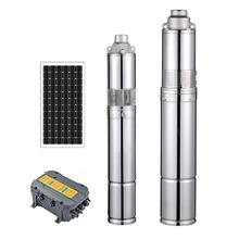 DC solar powered submersible water pump system without <strong>electricity</strong> for agriculture