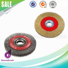 100mm 125mm 150mm Round Carbon Steel Crimped Cup Brush For Polishing