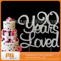 Sparking Silver Crystal Rhinestone Cake Topper -90 years loved rhinestone cake topper