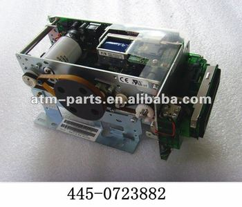 ATM Part 445-0723882 NCR 6625 NU-MCRW 3TK R/W HICO + SMART Card Reader