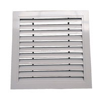 Grill louvered air vents for HVAC system