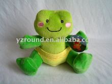 Wear pants plush toys frog