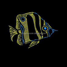 Beautiful Belt Fish Motif Heat Rhinestone Transfers Design For Shirts