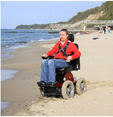 Wheelchair88 . PW-4x4Q . Stair Climbing 4WD Power Chair