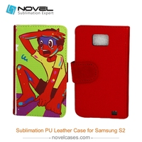 2015 wholesale price sublimation pu leather phone case for Samsung S2