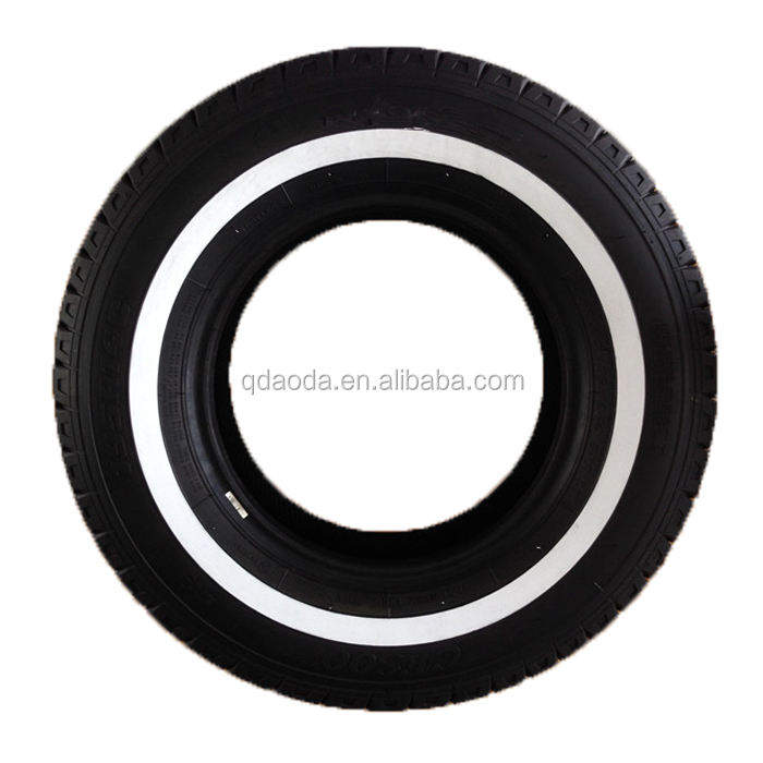 Made in China, Linglong, Triangle brand Good quality size 185R14C 195R14C 15C 205R15C Wsw white side wall passenger car tyres