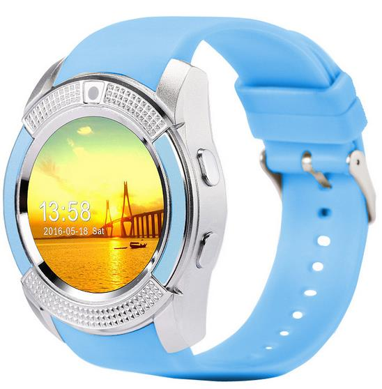 smart watch V8 china factory wholesale cheap price bluetooth GSM SIM Card smartwatch phone with alarm clock and stopwatch