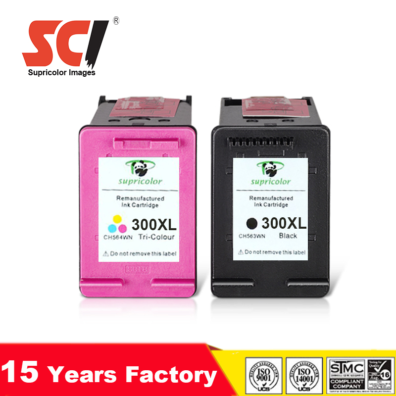 Remanufactured ink cartridge for HP300XL HP300(CC641EE CC644E)E