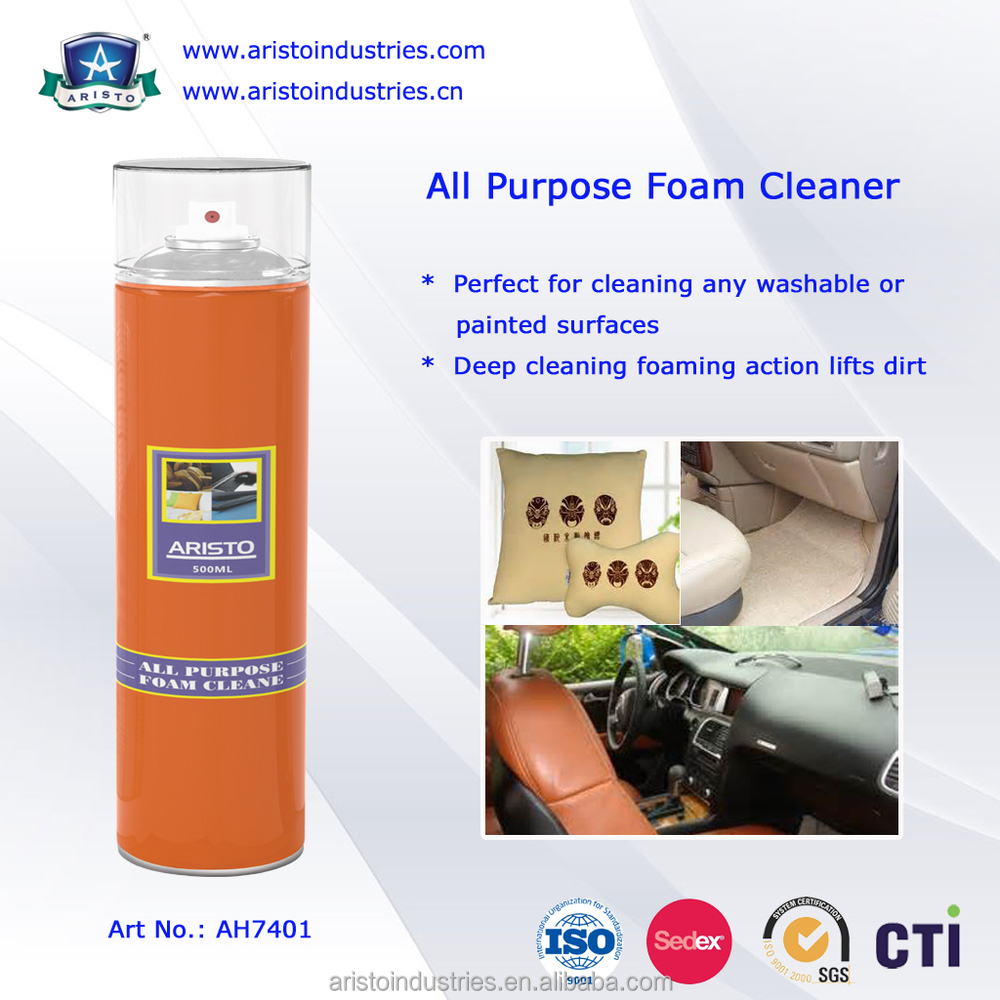 Aristo 400ml/600ml Aerosol Multi-Purpose Spray Foam Cleaner for Car or Home Care