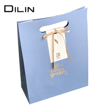 factory directly custom high end cutting handler gift paper bag for gift with die cut handle