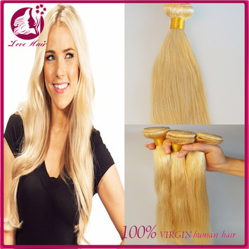 2017 top quality blonde human hair weave straight sew in human 2017 top quality blonde human hair weave straight sew in human hair extensions blonde hair bundles pmusecretfo Gallery