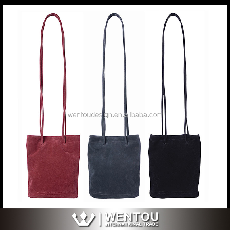 Wholesale Vintage Women Nubuck Bucket Bag