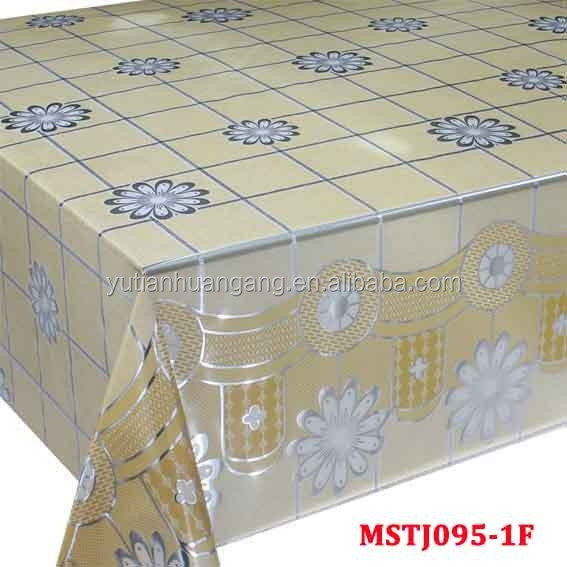 polyester plastic clear pvc table cloth
