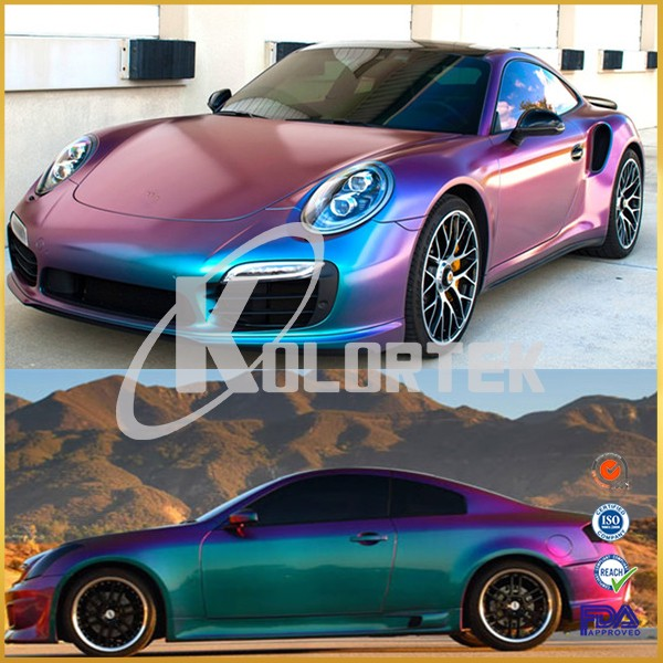 Chameleon effect chroma shift car paint pigment for auto coatings