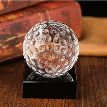 China madufacture supply, sports theme crystal golf ball awards/ k9 crystal golf trophies